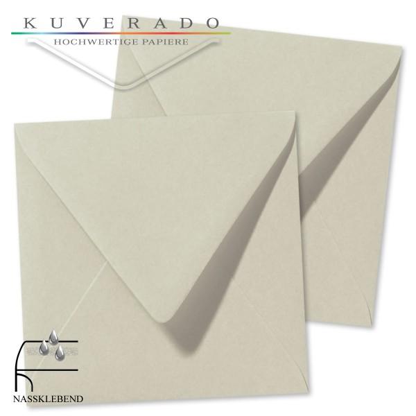 Graue Briefumschläge (Delfingrau) im Format quadratisch 160x160 mm
