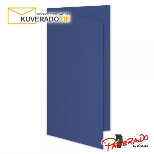 Paperado Karten in jeans blau DIN lang
