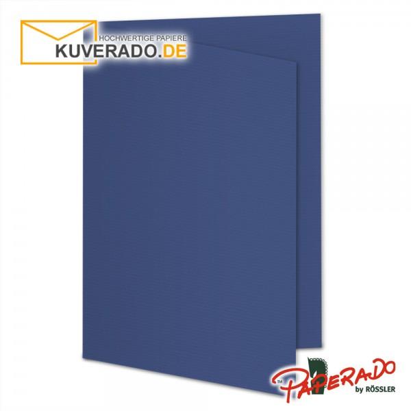 Paperado Karten in jeans blau DIN A5