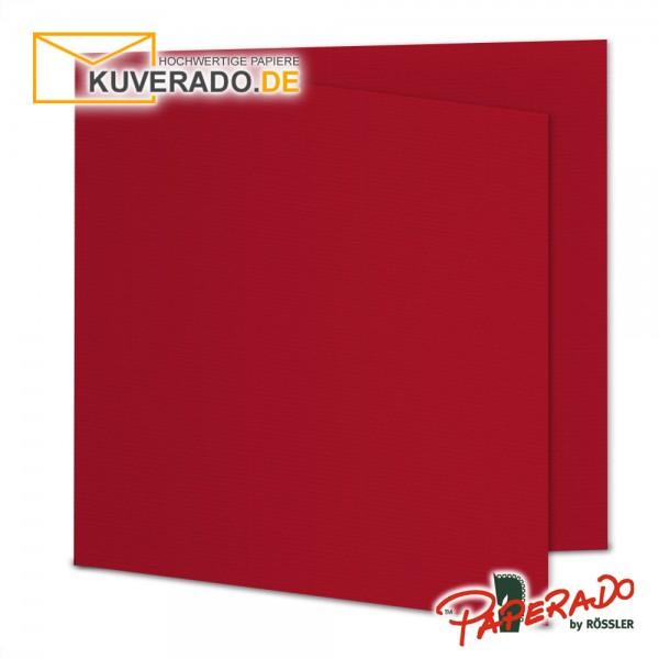 Paperado Karten in rot quadratisch
