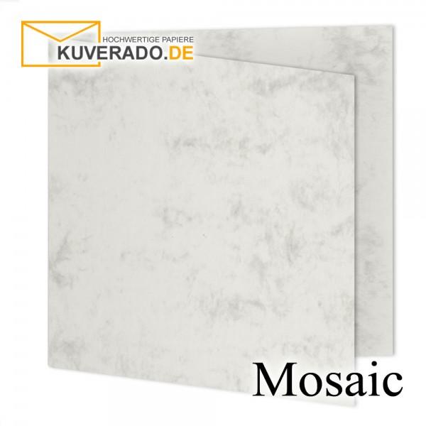 Artoz Mosaic marmorierte Faltkarten in grau quadratisch