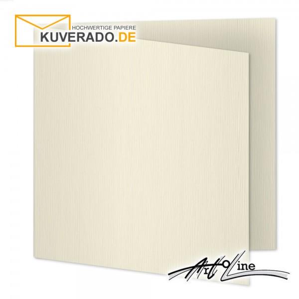 Artoz Artoline Karten/Doppelkarten in zabaione-beige quadratisch