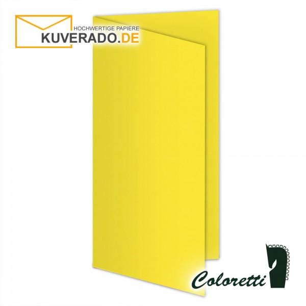Gelbe Doppelkarten in goldgelb 220 g/qm von Coloretti