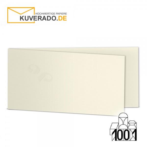 Artoz 1001 Faltkarten ivory beige DIN lang Querformat mit Wasserzeichen