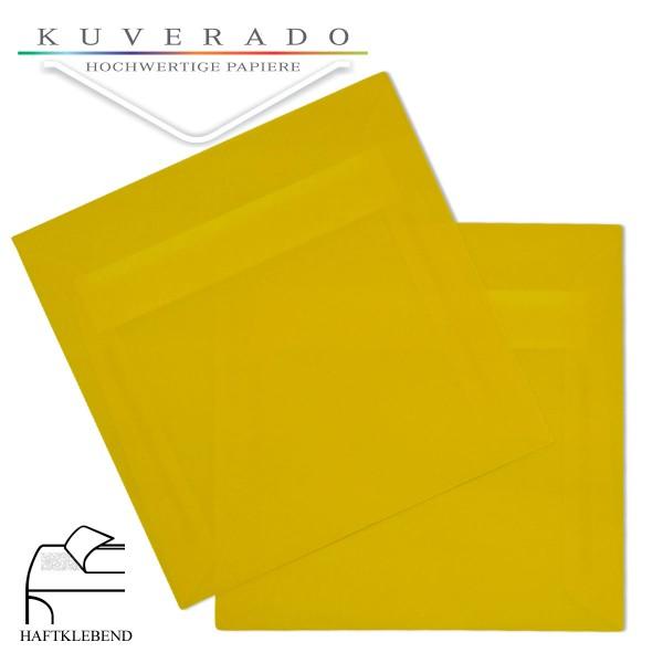 transparente Versandtaschen in gelb quadratisch
