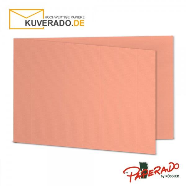 Paperado Faltkarten in coral DIN B6 Querformat