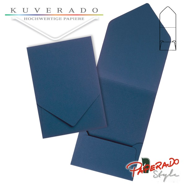 PAPERADO Style - Aufklappkarte in jeansblau