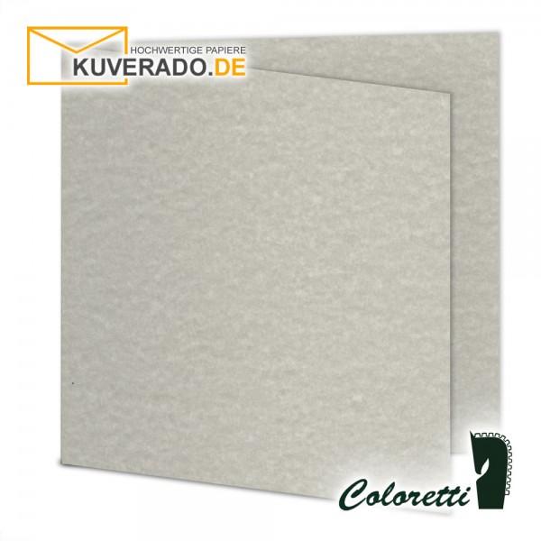 Wolkengrau marmorierte Doppelkarten in quadratisch 220 g/qm von Coloretti