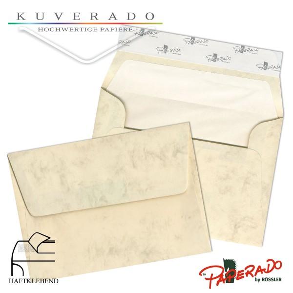 Paperado marmorierte Briefumschläge in chamois DIN C6