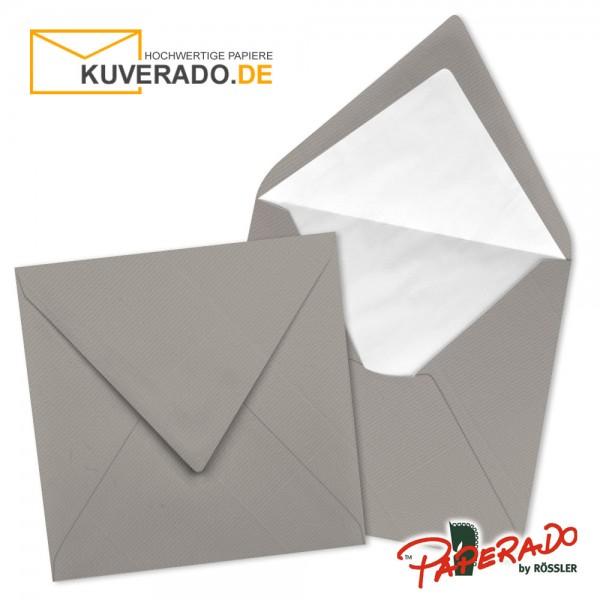 Paperado quadratische Briefumschläge in taupe-grau 164x164 mm