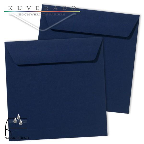 blaue Briefumschläge im Format quadratisch 190x190 mm