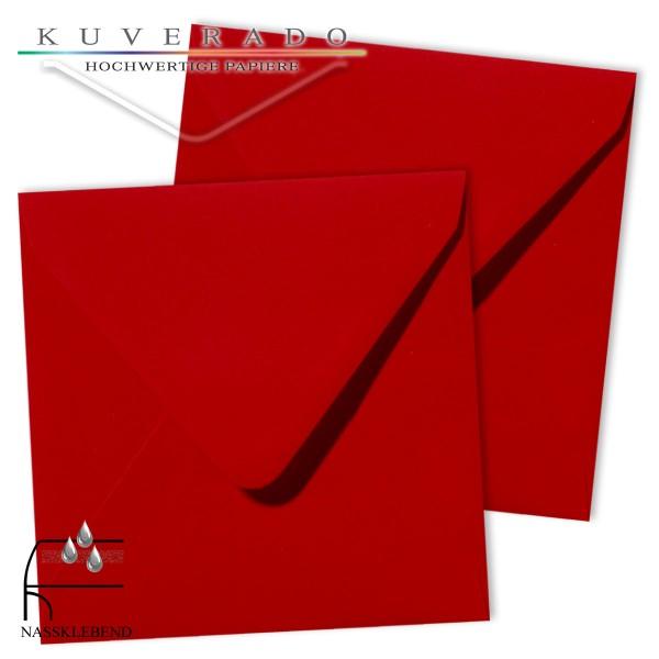 rote Briefumschläge im Format quadratisch 140x140 mm