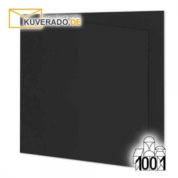 Artoz 1001 Faltkarten schwarz quadratisch 155x155 mm mit Wasserzeichen