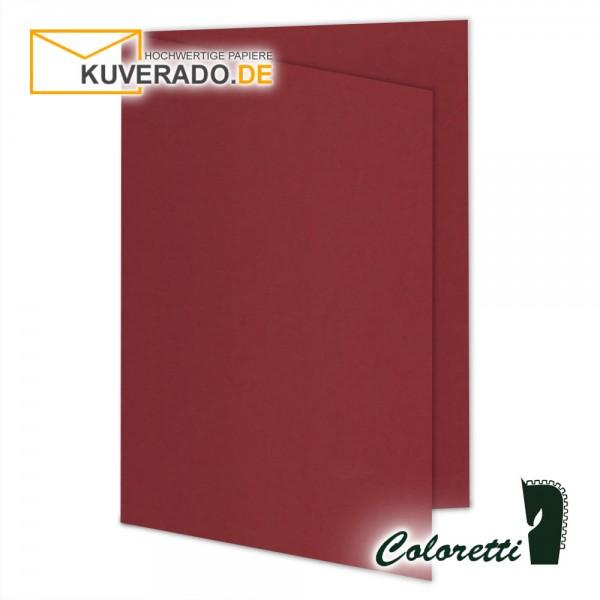 Rote Doppelkarten in rosso 220 g/qm von Coloretti