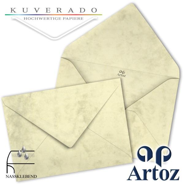 Artoz Antiqua marmorierte Briefumschläge chamois DIN C7