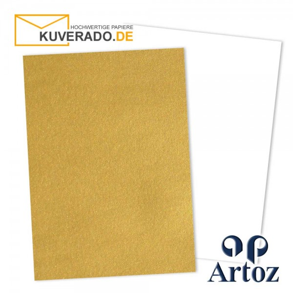 Artoz Mosaic metallic Briefkarton in gold DIN A4