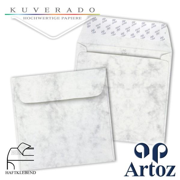 Artoz Antiqua marmorierte Briefumschläge grau quadratisch