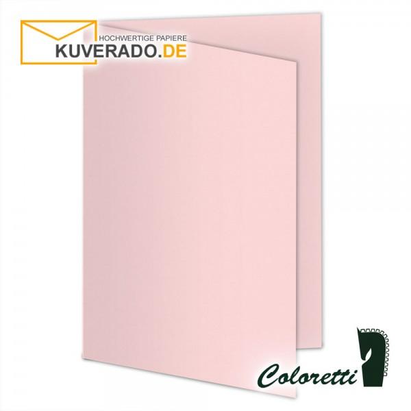 Rosa Doppelkarten in 220 g/qm von Coloretti