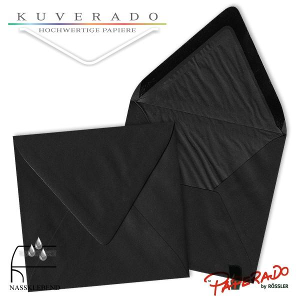 Paperado quadratische Briefumschläge in schwarz 164x164 mm