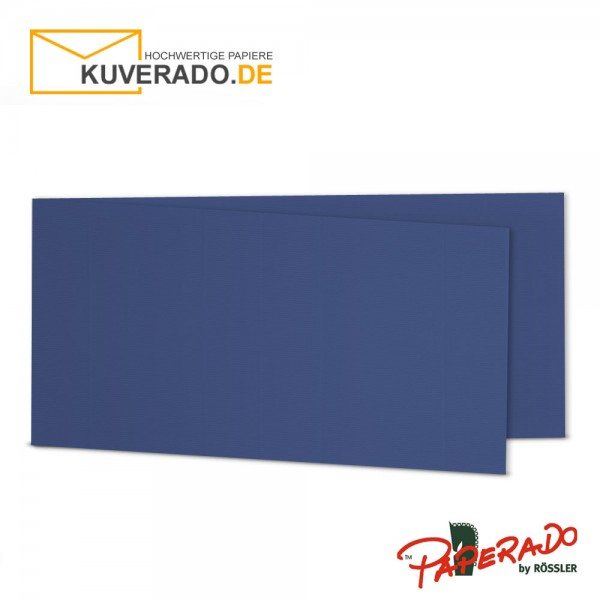 Paperado Karten in jeans blau DIN lang Querformat