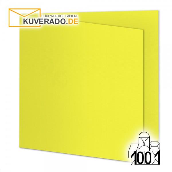 Artoz 1001 Faltkarten maisgelb quadratisch 155x155 mm mit Wasserzeichen