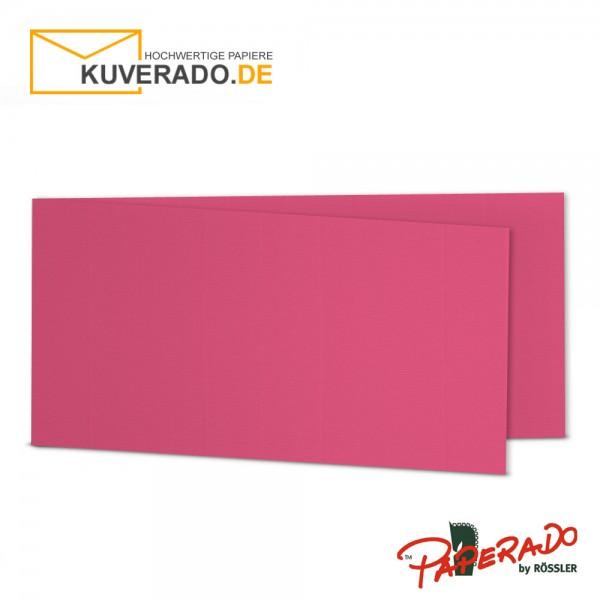 Paperado Karten in fuchsia rosa DIN lang Querformat