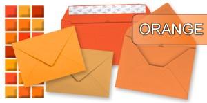 Orange Briefumschläge